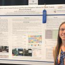 Kelley Drechsler with her award-winning poster.