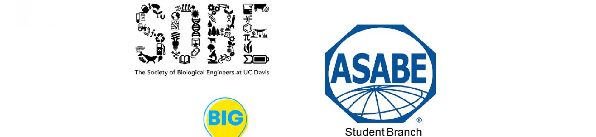 ASABE Student Branch, SOBE, BIG Biological and Agricultural Engineering Academic Clubs